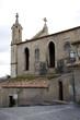 canvas print picture - Dorfkirche in Spanien