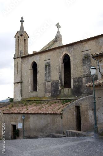canvas print picture Dorfkirche in Spanien
