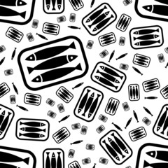 tin of sardines seamless pattern