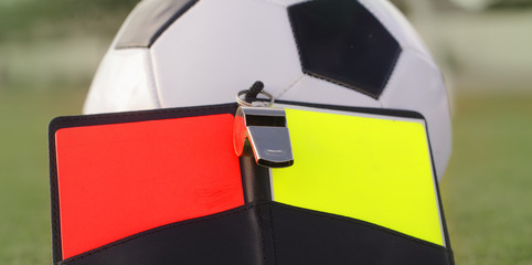 Football soccer referee decision concept image