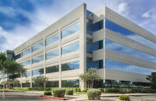 canvas print picture generic modern building - symbol of success