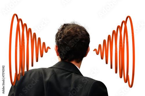 Leinwanddruck Bild Hören