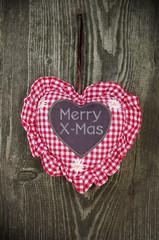 Herz mit Merry X-Mas