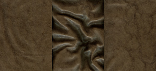 Set of brown leather textures