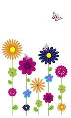 Flores de colores y mariposas 2.