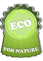 Green product label eco for nature