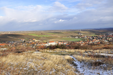 Panoramic view of the historic part of Retz