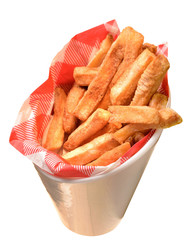 Frites isolated