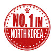 Number one in North Korea stamp