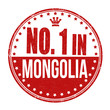 Number one in Mongolia stamp