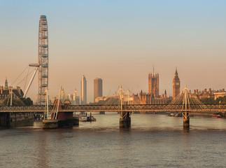 London at dawn.