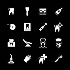 Set icons of dental