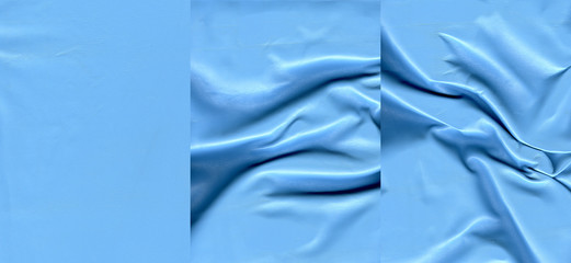 Set of azure leather textures