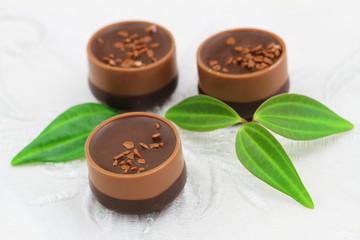 Chocolates, closeup