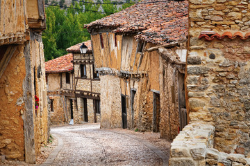 Old houses in Calatanazor, Soria, Spain
