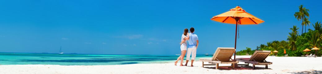 Couple at tropical beach