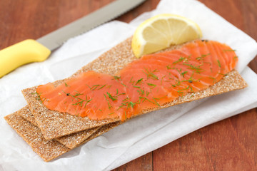 salted salmon with toast