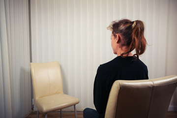 Woman waiting to see doctor