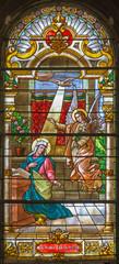Trnava - The annunciation in baroque windowpane