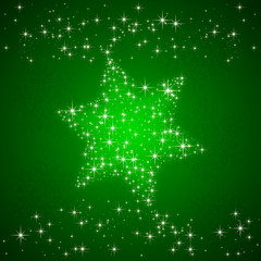 Green background with Christmas star
