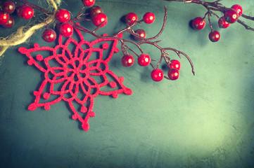 Christmas vintage background. Old styled shabby card design