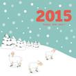New year 2015 greeting card design - Illustration