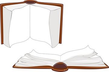 Set of open book