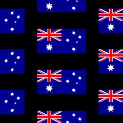 Australia flag seamless pattern