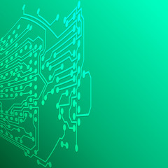 Microchip background, electronic circuit, EPS10 vector