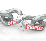 Disrespect Words 3d Chain Links Breaking Lack Respect Honor poster
