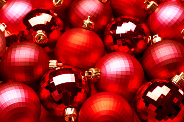 Christmas and New Year Decoration. Baubles Background