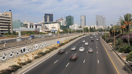 central Ayalon highway, panoramic views of the North Tel Aviv