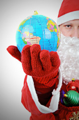 Santa Clause Showing World