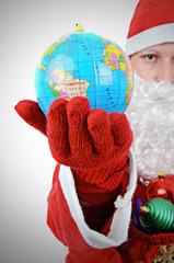 Santa Clause Showing World