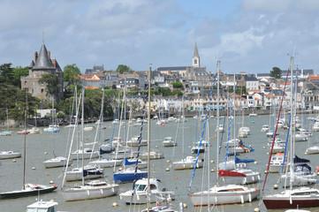 picturesque city of Pornic in Loire Atlantique
