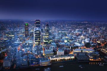 City of London At Sunset