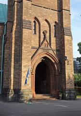 The portal of the Anglican Church of Saint Andrew in Moscow
