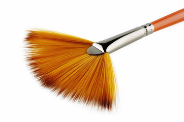 A fan brush