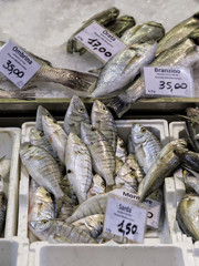 Pesce fresco al mercatino