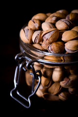 Pistachios in jar