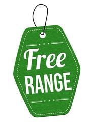 Free range label or price tag