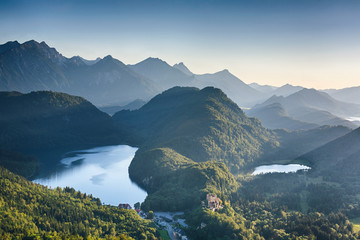 Alpine Lakes Near Neuschwanstein Castle