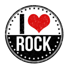 I love Rock stamp