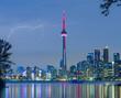 lightning over  Toronto Downtown Skyline
