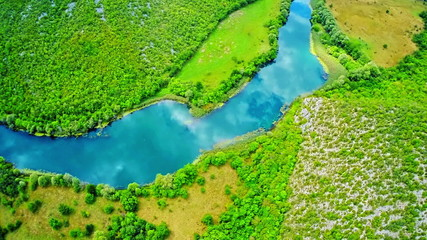 Krka river flow - National park