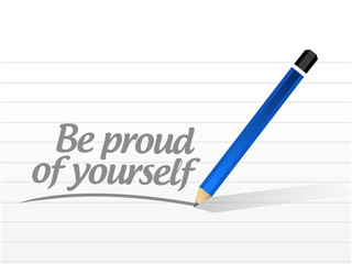 be proud of yourself message