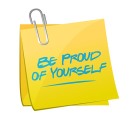 be proud of yourself memo illustration