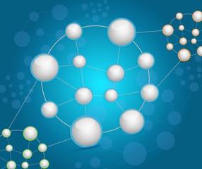 sphere network diagram illustration