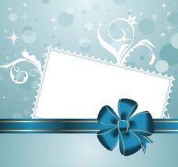 cute christmas background with greeting card