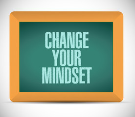 change your mindset sign illustration
